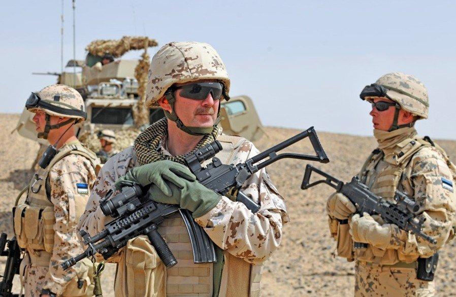 Estonian soldiers in Afghanistan.