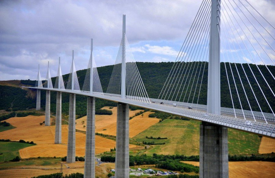 Holding European bridges long and high - Millau Viaduct in France