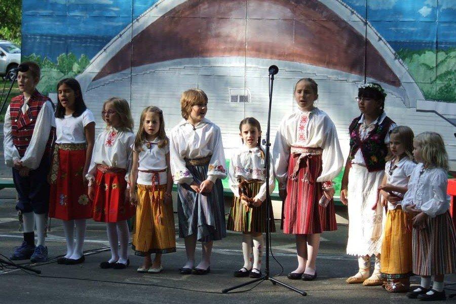 Estonian-American children at Lakewood, New Jersey