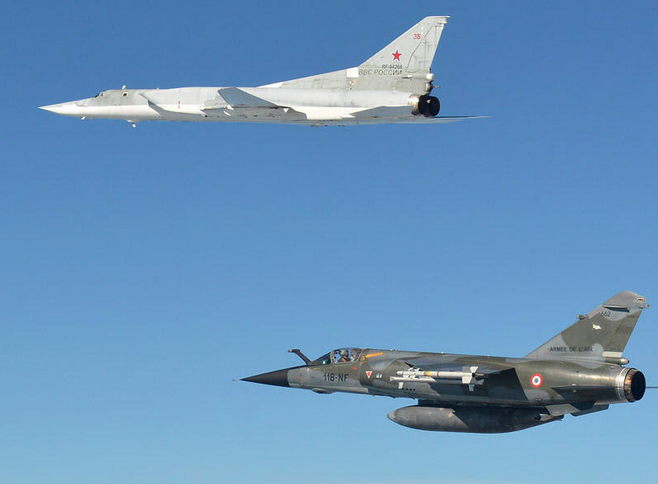 French FC-1 intercepts Russian Tu-22M3
