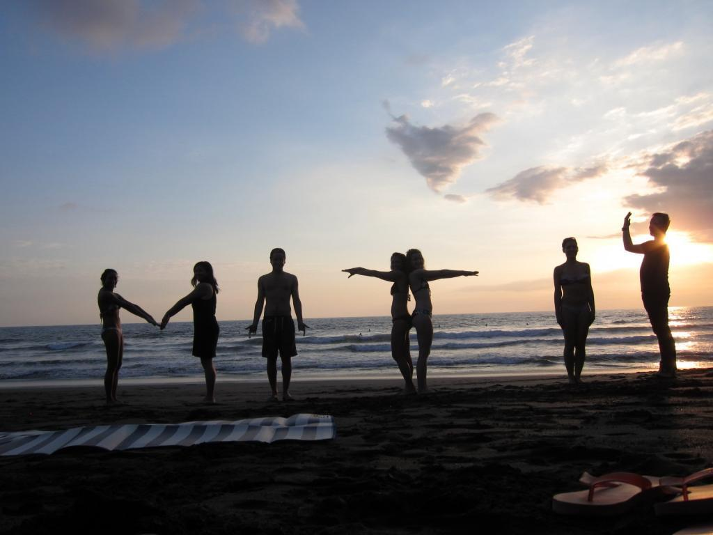 whenever MIT students travel they spell out MIT for photos. Costa Rica, January '14
