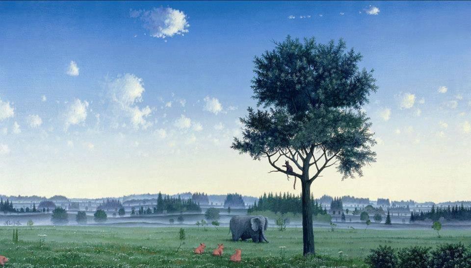 Council, Oil on canvas, 1998