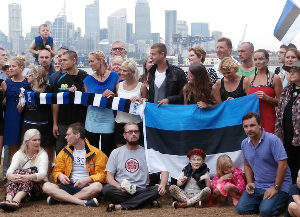 Estonians celebrating in Clark island, Sydney
