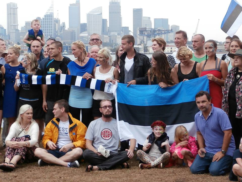 Estonians celebrating in Clark island, Sydney