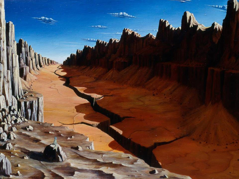 Huntersdale at noon, Oil on canvas, 1992