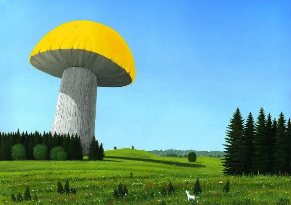 If All the Mushrooms in the World Would Be United, Oil on canvas, 2005