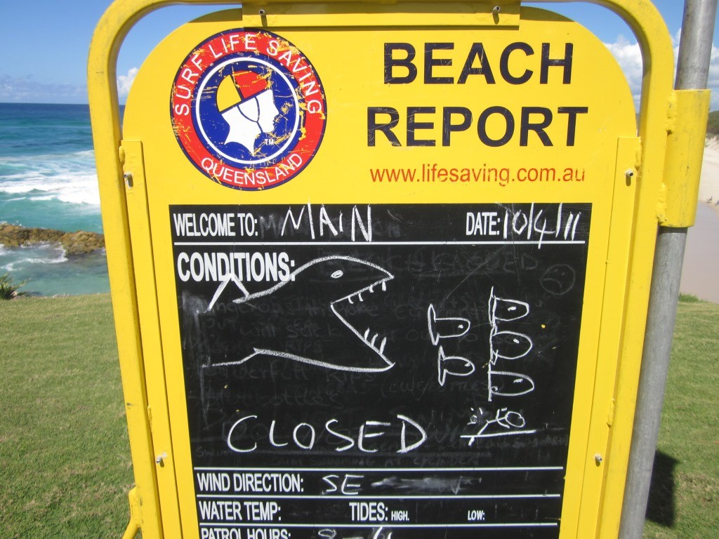 Beach conditions