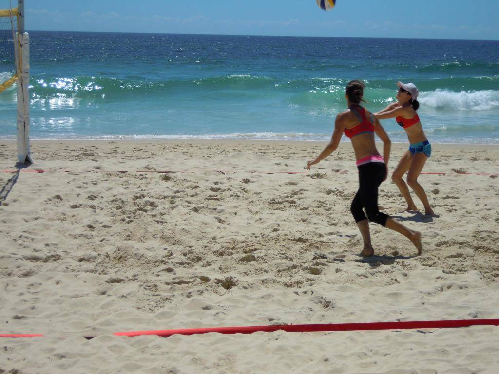 Queensland Beach Volleyball Series. Surfers Paradise beach.