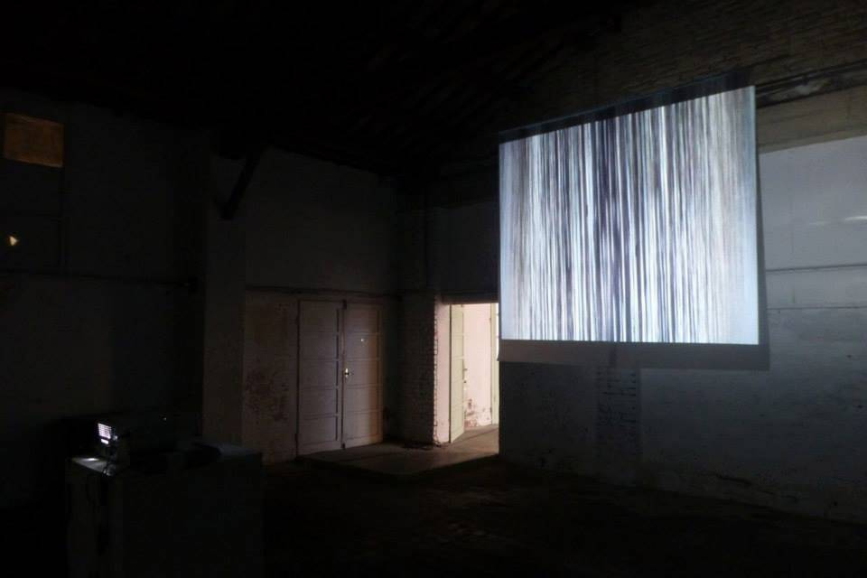 """""""Advances and Retreats"""" series, graphite and pencil on mylar and video projection, viewable from both sides,"""