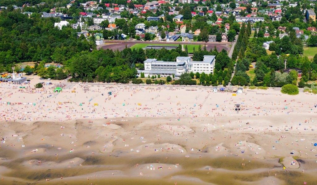 Pärnu beach from the air