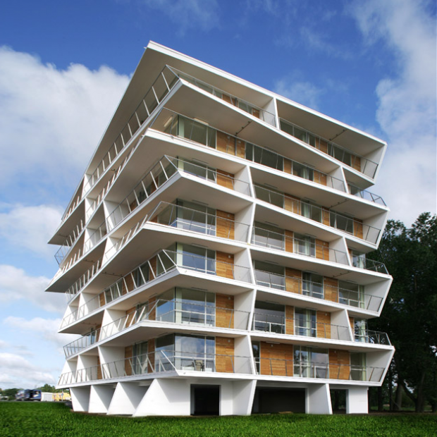 Siili 6 apartment building. Architects Thomas Pucher and Alfred Bramberger. Photo: Wikimedia Commons