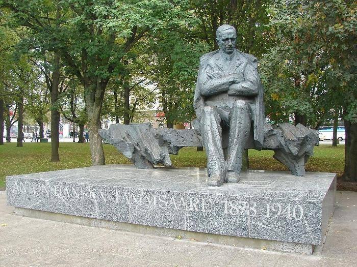 Tammsaare monument in Tallinn