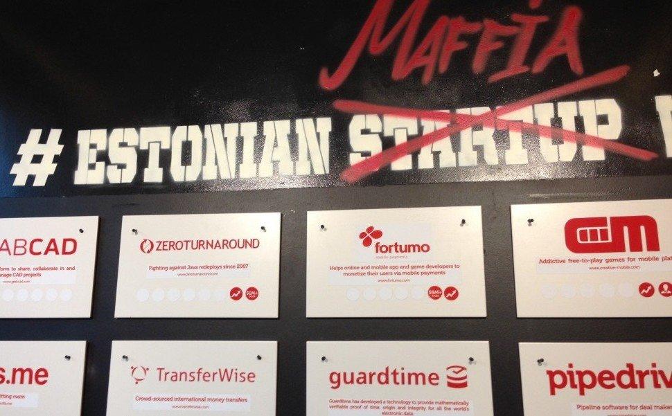 #estonianmafia wall of fame at Garage48 Hub in Tallinn