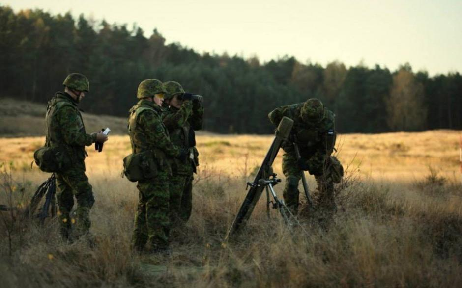 Soldiers from the Estonian Defence Forces