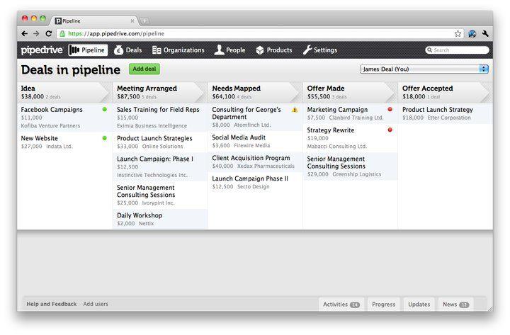 Pipedrive screenshot