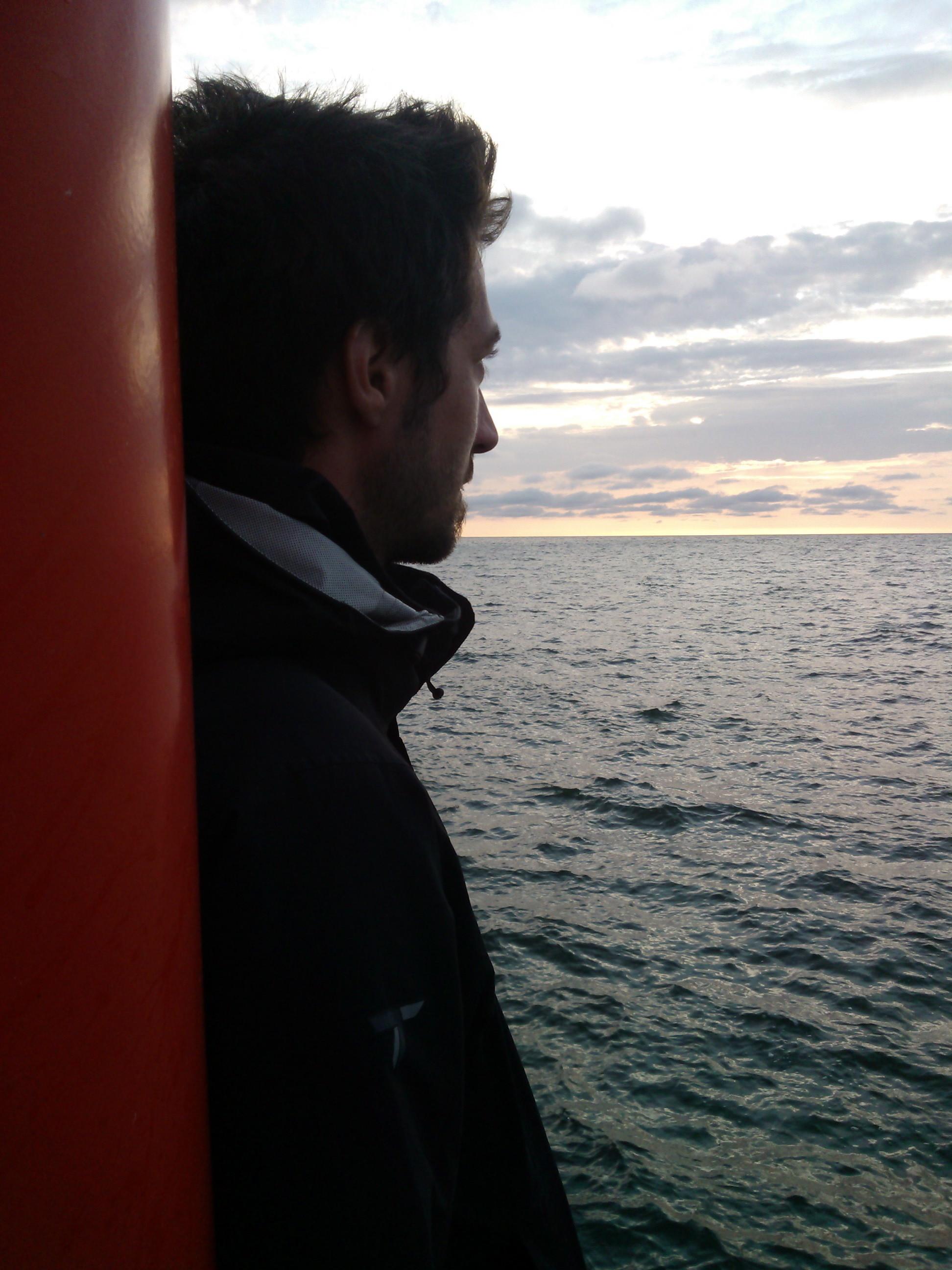 Adam by the sea.