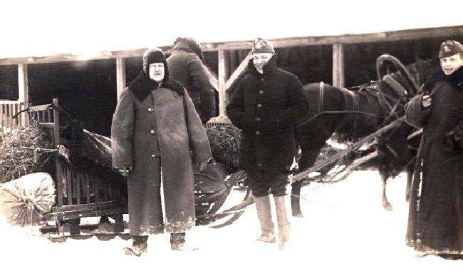 Estonian border guards near Peipsi in 1938