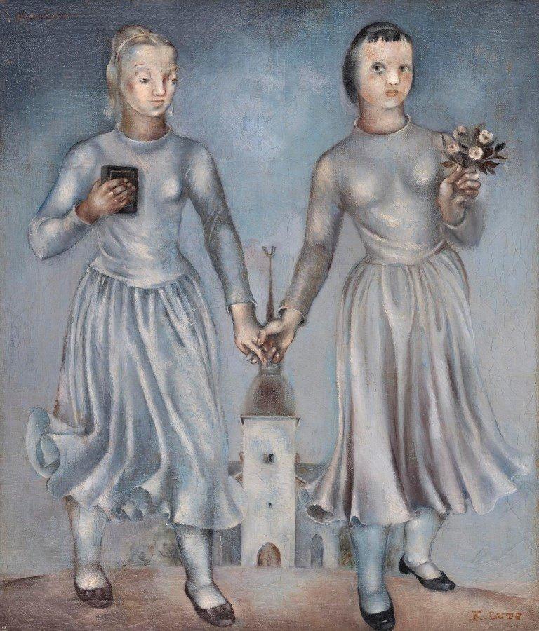 Karin Luts. Leerilapsed. 1936. Õli, lõuend. 69,7x59,9