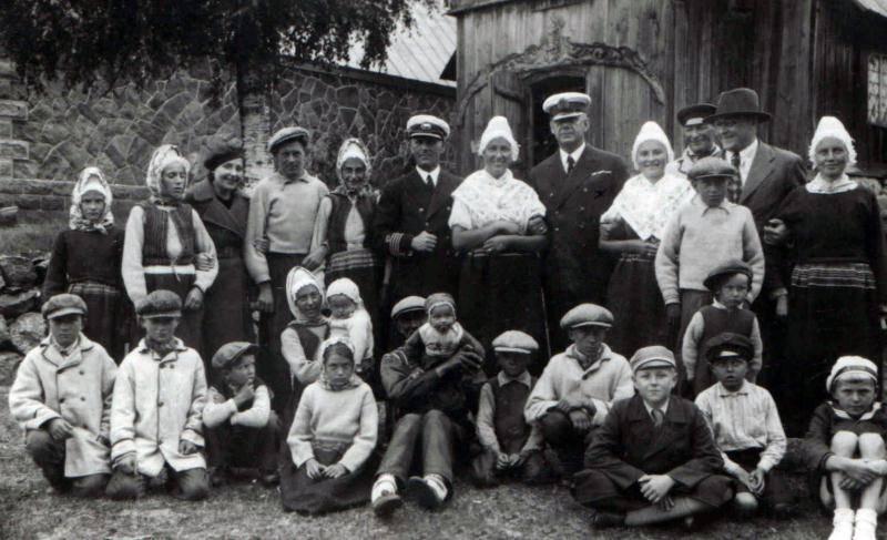 Estonian Swedes in Ruhnu island in 1937 - Estonian Maritime Museum