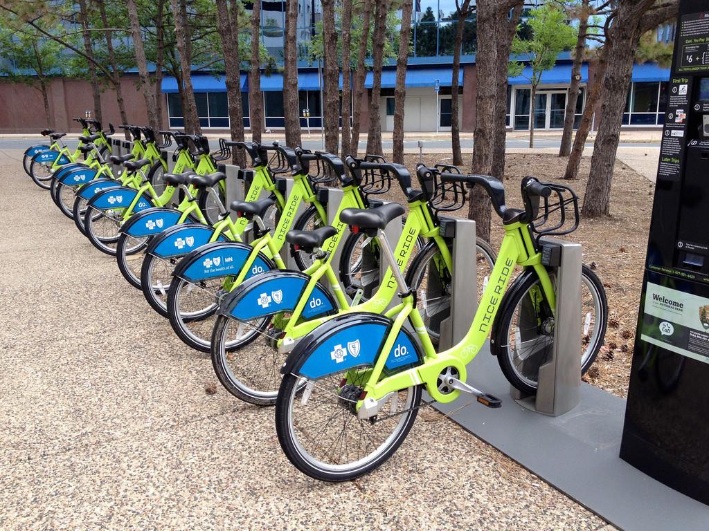 Bike-Share in St. Paul, Minnesota; © Flickr User Taestall; Licensed via Creative Commons