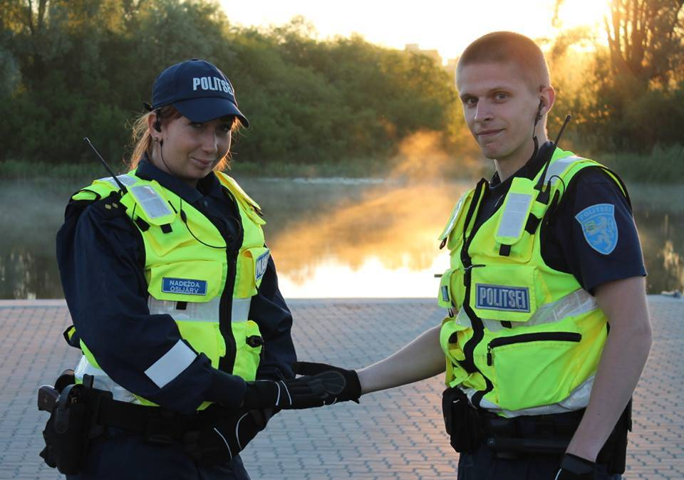 Nadežda and Arno from Estonian Police