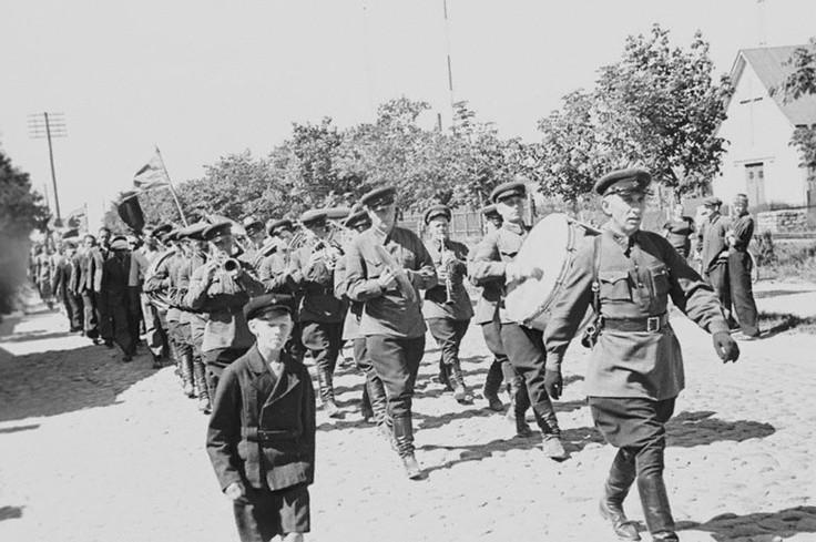 Soviet troops in Tallinn 1940