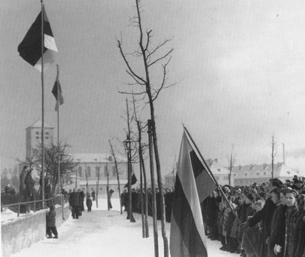 Estonian refugees celebrating Independence Day in DP camp in 1948