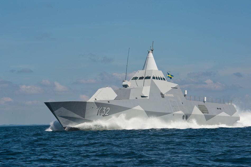 Visby-class corvette HMS Helsingborg