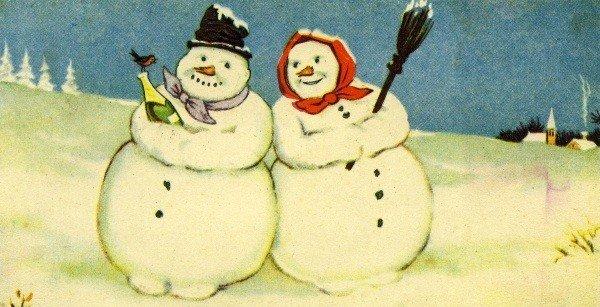 Old Estonian snowmen