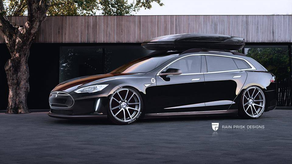 PICTURES: Estonian designer suggests estate version for Tesla