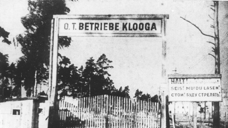 Klooga concentration camp entrance
