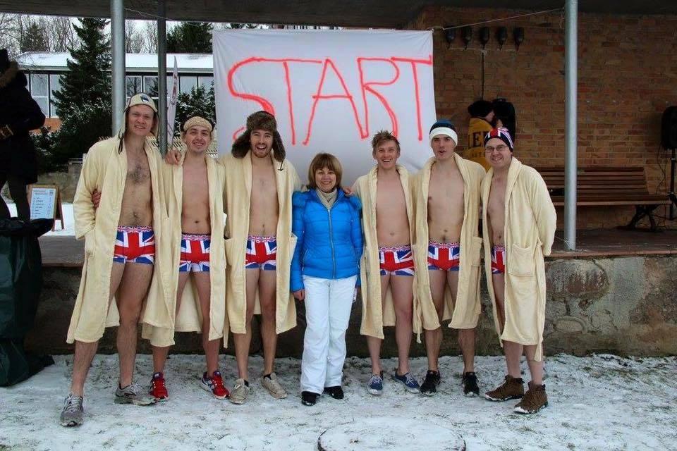 Otepää Sauna Marathon British Embassy team