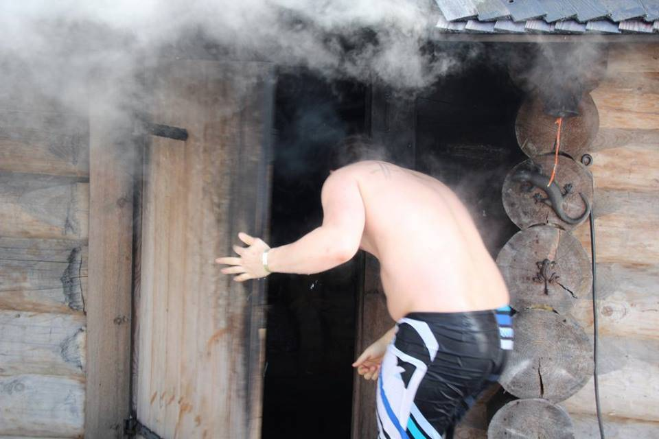 The Estonian smoke sauna.