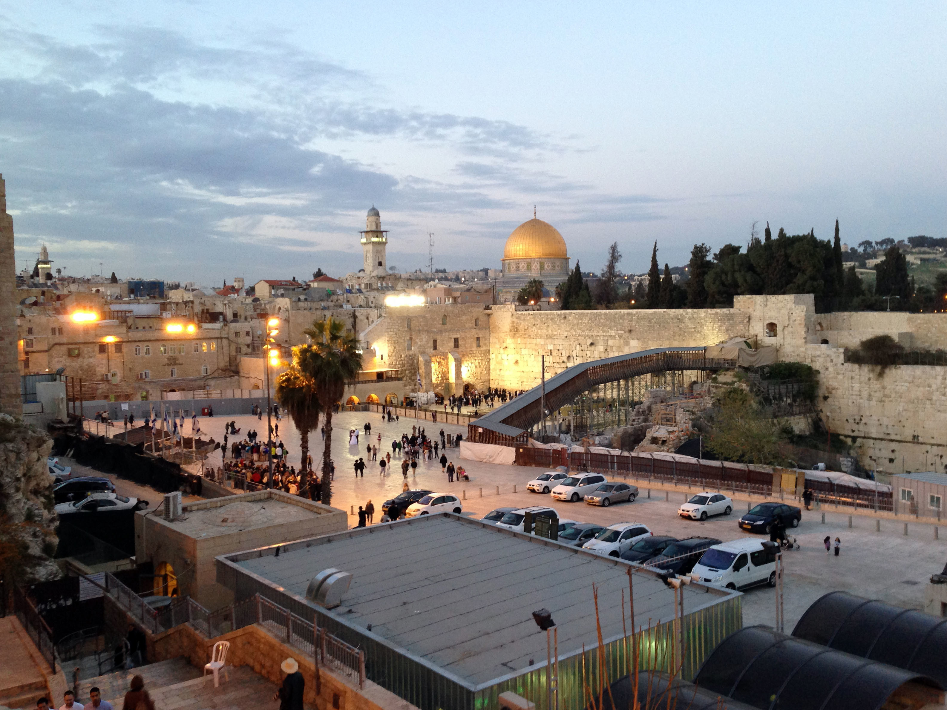The Western Wall in Jerusalem, the capital of Israel.