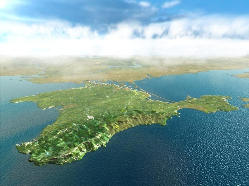 Crimea Peninsula Satellite Photo