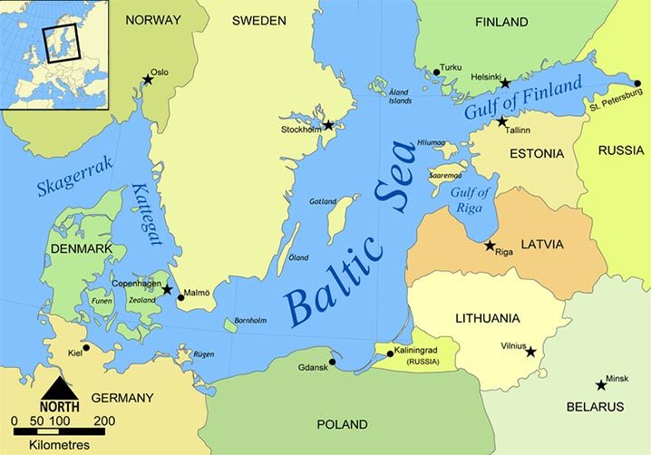 The UN clifies Estonia as a Northern European country Denmark Country Map on