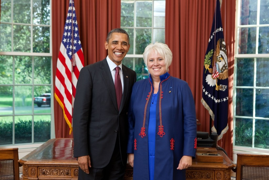 President Barack Obama participates in an Ambassador Marina Kaljurand, Republic of Estonia, in the Oval Office, Sept. 9, 2011. (Official White House Photo by Lawrence Jackson) This photograph is provided by THE WHITE HOUSE as a courtesy and may be printed by the subject(s) in the photograph for personal use only. The photograph may not be manipulated in any way and may not otherwise be reproduced, disseminated or broadcast, without the written permission of the White House Photo Office. This photograph may not be used in any commercial or political materials, advertisements, emails, products, promotions that in any way suggests approval or endorsement of the President, the First Family, or the White House.