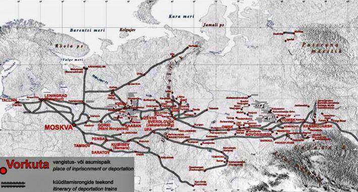 Soviet deportations map