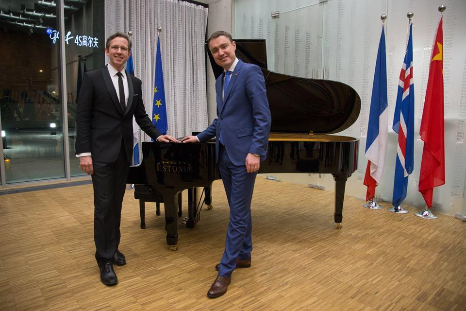 Taavi Rõivas by Estonia piano in China
