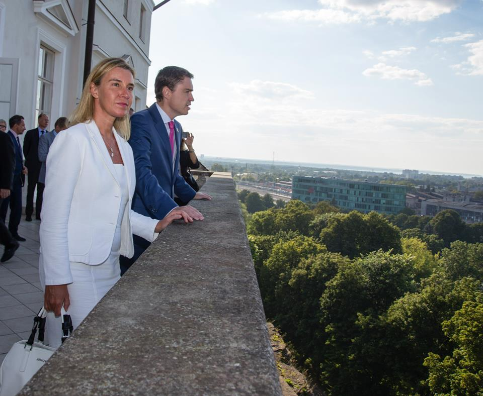 Taavi Rõivas with Federica Mogherini, High Representative of the European Union for Foreign Affairs and Security Policy
