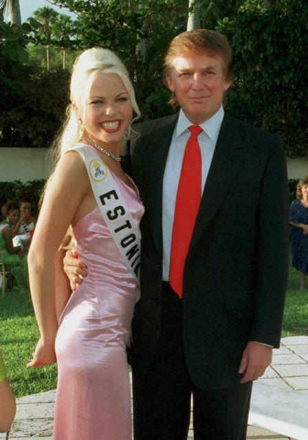 Kristiina Heinmets with Donald Trump in 1997