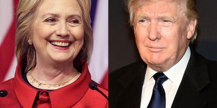 Trump and Clinton - Getty