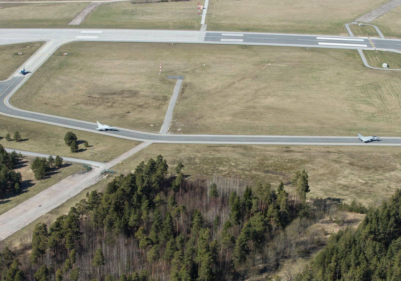 Typhoon aircraft arrival at the Ämari Air Base in Estonia. Photo: UK Ministry of Defence