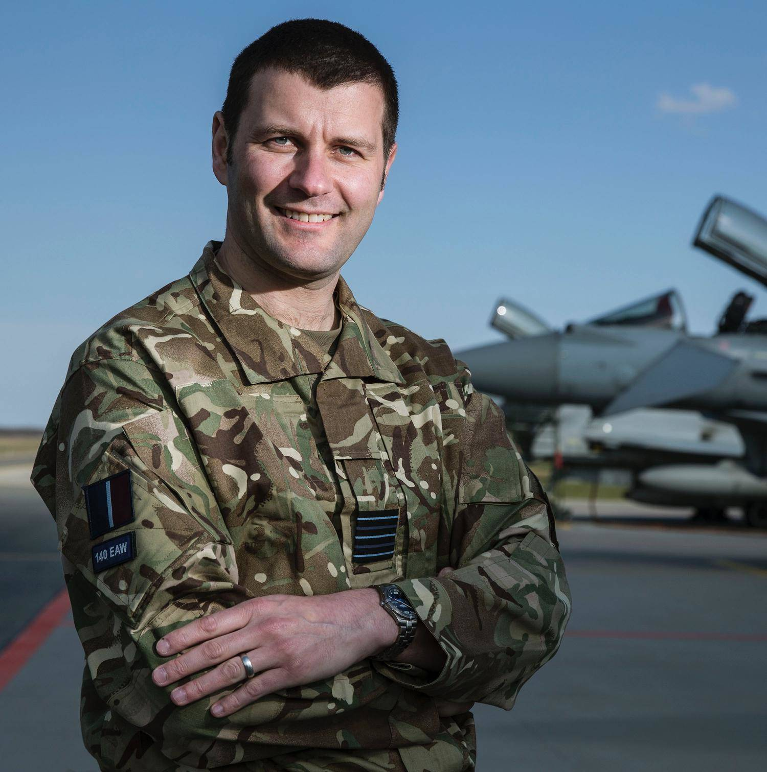 RAF Wing Commander Gordon Melville at the Ämari Air Base in Estonia. Photo: UK Ministry of Defence