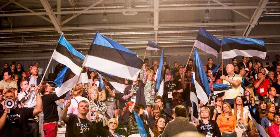 Estonian fans at the contest