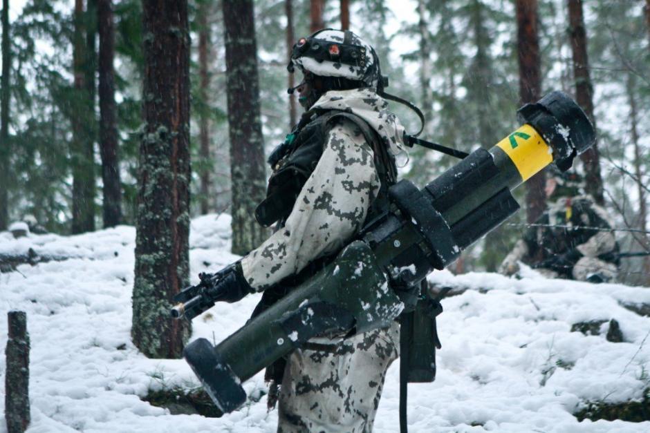 Finnish soldier in winter