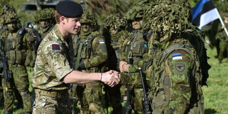Prince Harry in Estonia - ITV