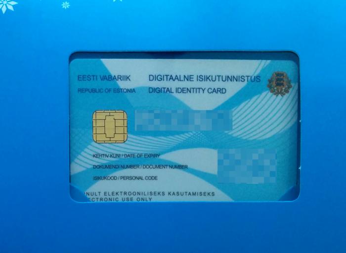 The Estonian e-residency card.