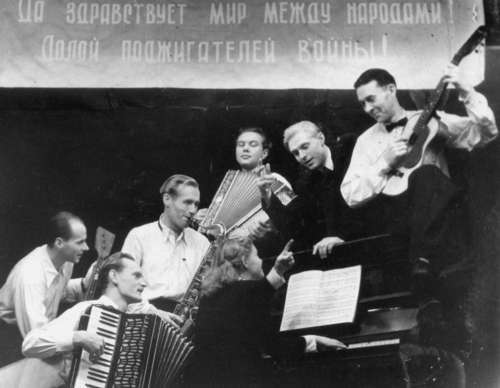 An orchestra of the deported Estonians in Belaja Holunitsa in Kirov Oblast in 1950-ies