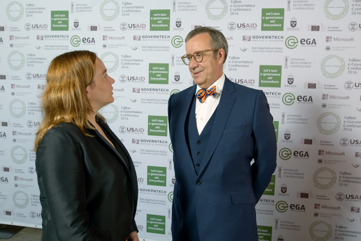 Axelle Lemaire and Toomas Hendrik Ilves. Photo by Raigo Pajula
